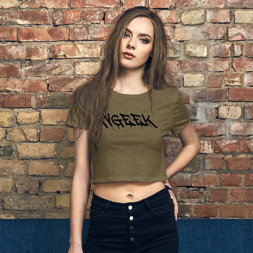 AVGEEK GRAFFITI PRINT Women's Crop Top T-shirt