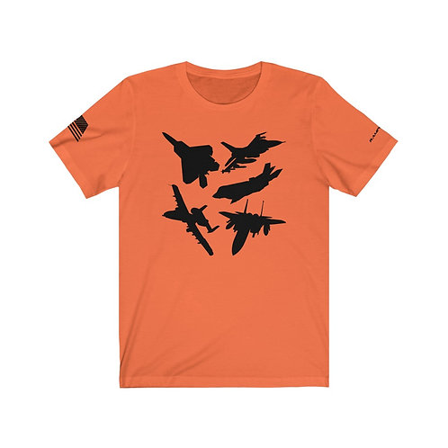 USAF A-10 F-15 F-16 F-22 F-35 FIGHTERS AND ATTACK Unisex T-Shirt