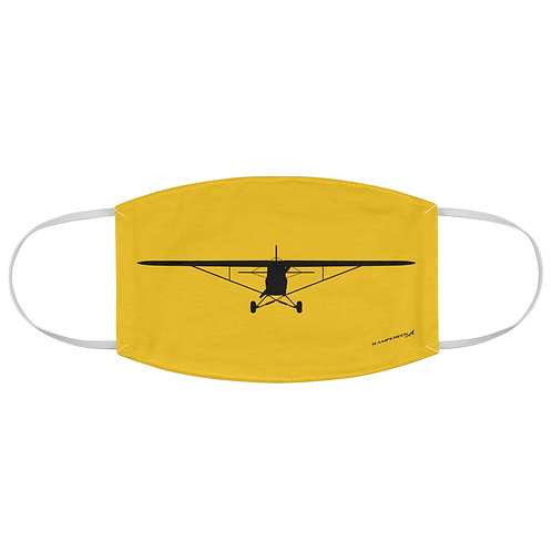 PIPER CUB FRONT SILHOUETTE Fabric Face Mask