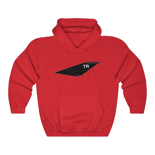 F-117A NIGHTHAWK TR TAIL FRONT & BACK PRINT Unisex Heavy Blend Hoodie