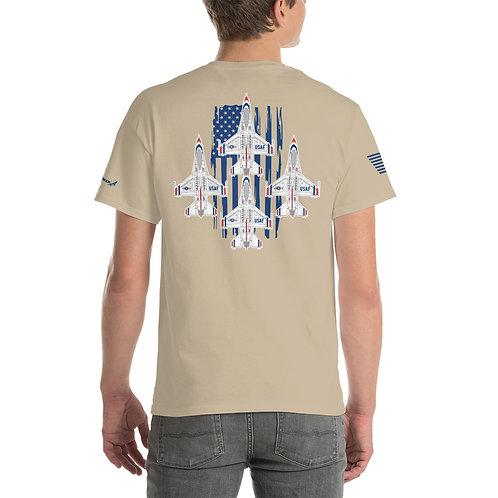 UNOFFICIAL USAF THUNDERBIRDS F-16C DIAMOND USA PREMIUM Heavyweight T-shirt