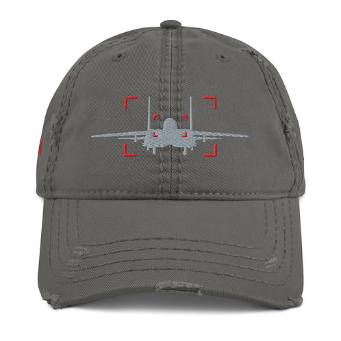 LOCKED ON MUDHEN AVIATION PHOTOGRAPHY Distressed Dad Hat