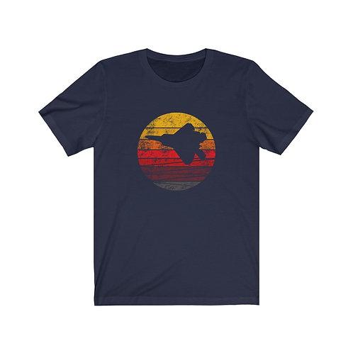 F-22 DISTRESSED RETRO SUNSET Unisex T-Shirt