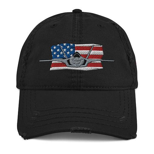 F-35A LIGHTNING II USA Distressed Hat