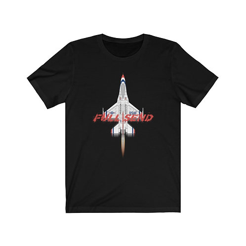 UNOFFICIAL USAF THUNDERBIRDS F-16C FULL SEND Lightweight T-shirt