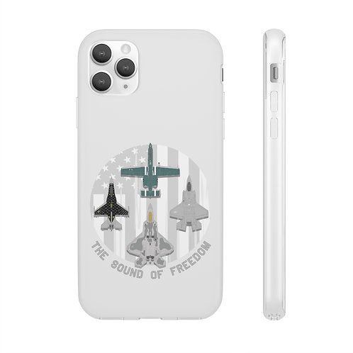 THE SOUND OF FREEDOM UNOFFICIAL USAF ACC DEMO TEAMS Flexi Phone Case