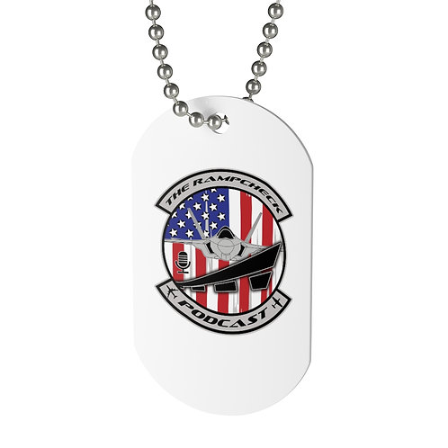 OFFICIAL THE RAMPCHECK PODCAST LOGO Dog Tag