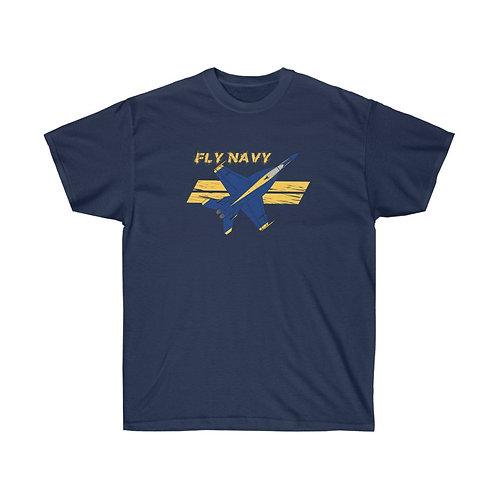 UNOFFICIAL USN BLUE ANGELS SUPER HORNET FLY NAVY Heavyweight T-shirt