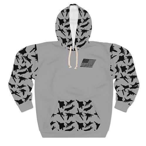 USAF FIGHTER & ATTACK PATTERN Unisex Pullover Hoodie