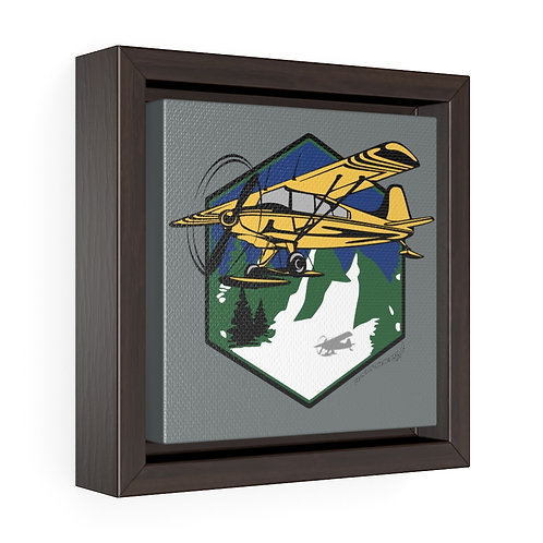MOUNTAIN FLYING Square Framed Premium Gallery Canvas