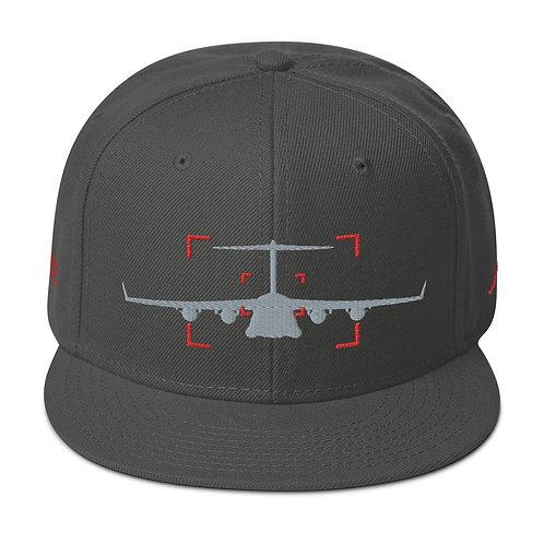 LOCKED ON MOOSE AVIATION PHOTOGRAPHY Snapback Hat