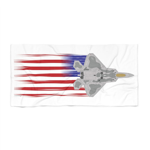 HUGE 3X6 LEFT FACING OR VERTICAL F-22 FULL SEND US FLAG Beach Towel