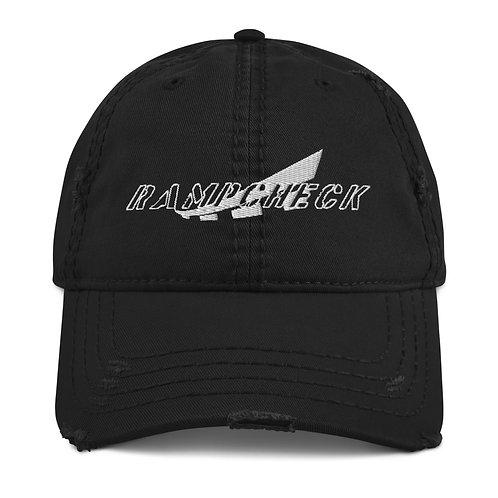 RAMPCHECK MARK WHITE THREAD Distressed Dad Hat