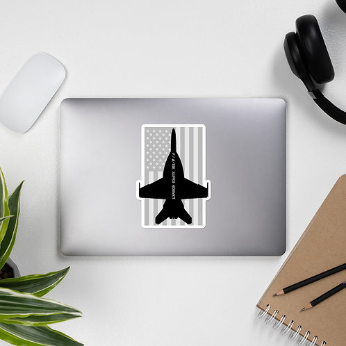 F/A-18E SUPER HORNET USA BLACK AND GRAY STICKER