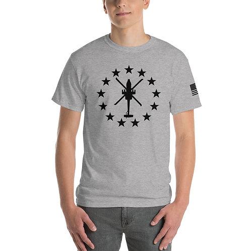 AH-64 FREEDOM STARS BLACK PRINT Heavyweight T-shirt