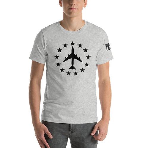 747 CLASSIC FREEDOM STARS BLACK PRINT Lightweight T-shirt