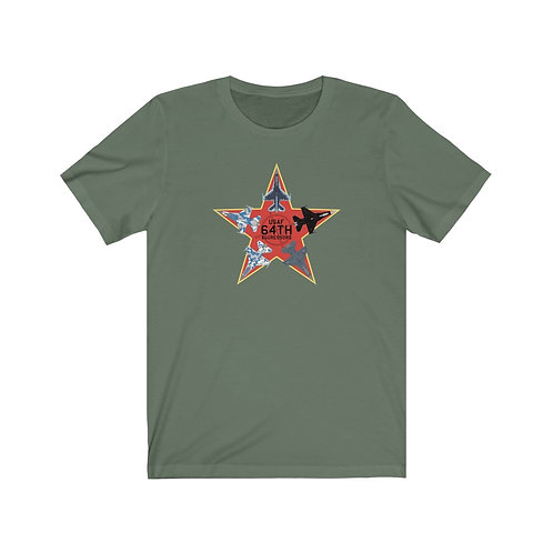 UNOFFICIAL 64 AGRS RED STAR F-16 AGGRESSORS Unisex Short Sleeve T-shirt