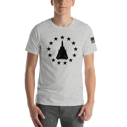 F-14 FREEDOM STARS BLACK PRINT Lightweight T-shirt
