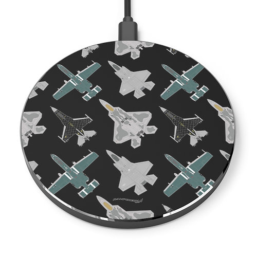 UNOFFICIAL USAF AIR COMBAT COMMAND SOLO DEMO TEAMS Wireless Charger