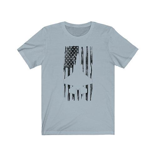 DISTRESSED BLACK PRINT F-35A/B US FLAG Lightweight T-shirt