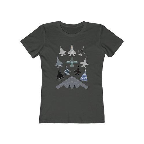 US MILITARY RANDOM MASS FORMATION Women's The Boyfriend T-shirt