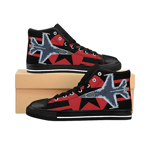 F-16C GHOST AGGRESSOR RED STAR AND BARS ROUNDEL Men's High-top Sneakers