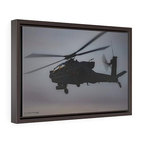 AH-64 APACHE DUSK Framed Premium Gallery Wrap Canvas