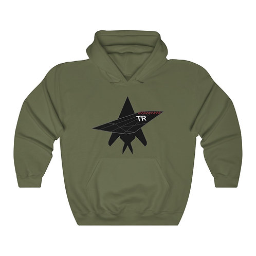 F-117A NIGHTHAWK TR TAIL TOP SILHOUETTE Unisex Heavy Blend Hoodie