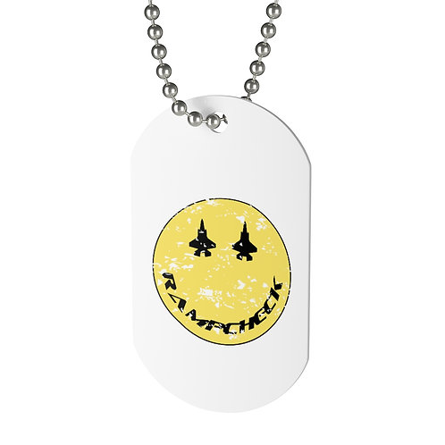F-35 RAMPCHECK SMILE DISTRESSED Dog Tag