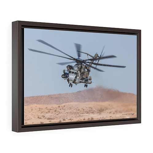 CH-53E SUPER STALLION Framed Premium Gallery Wrap Canvas