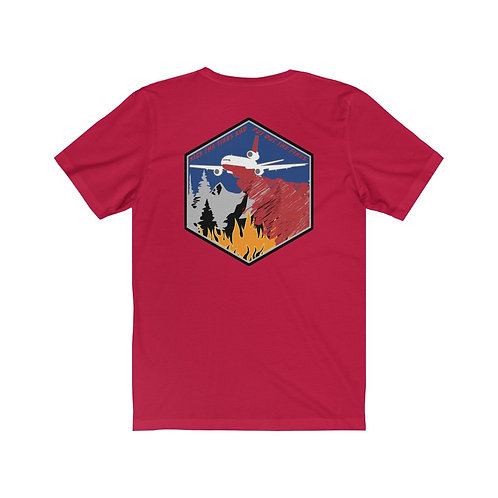 DC-10 KICK THE TIRES AND PUT OUT THE FIRES BACK PRNT Unisex Short Sleeve T-Shirt