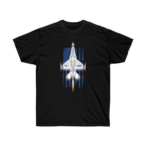 UNOFFICIAL USAF THUNDERBIRDS F-16C AFTERBURNER USA Heavyweight T-shirt