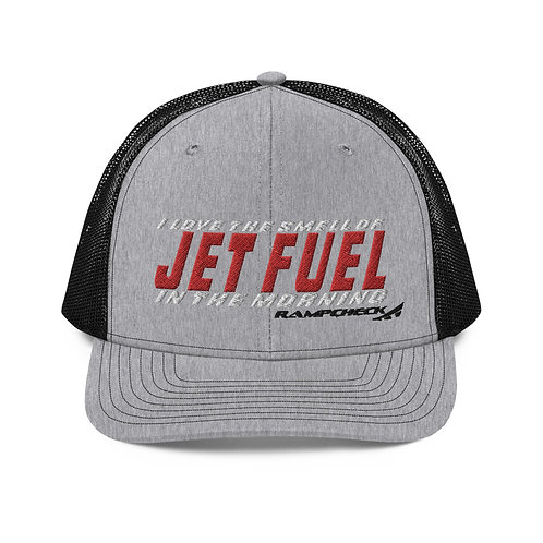I LOVE THE SMELL OF JET FUEL IN THE MORNING RAMPCHECK Trucker Cap