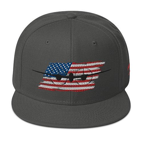 P-38 LIGHTNING Snapback USA Hat