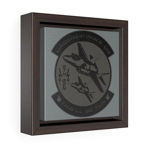 F-35 LIGHTNING II UUTBF Square Framed Premium Gallery Canvas