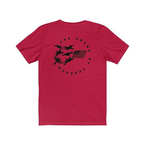THE SOUND OF FREEDOM USN USMC FIGHTER & ATTACK BP Unisex Short Sleeve T-Shirt