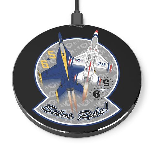 UNOFFICIAL USN BLUE ANGELS USAF THUNDERBIRDS SOLOS RULE! Wireless Charger