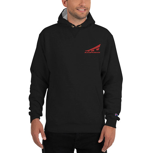 RAMPCHECK LOGO Red Thread Embroidered Champion Hoodie