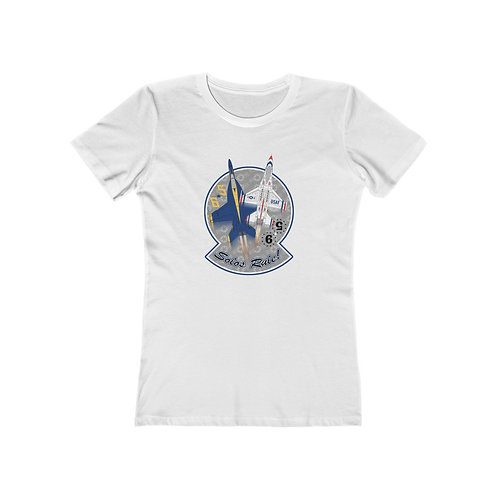 UNOFFICIAL USN BLUE ANGELS USAF THUNDERBIRDS SOLOS RULE! Wmn's The Boyfriend Tee