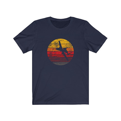 A-10 DISTRESSED RETRO SUNSET Unisex T-Shirt