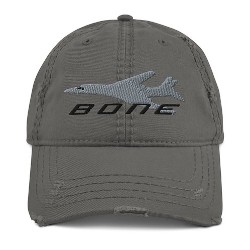 B-1 BONE Distressed Hat