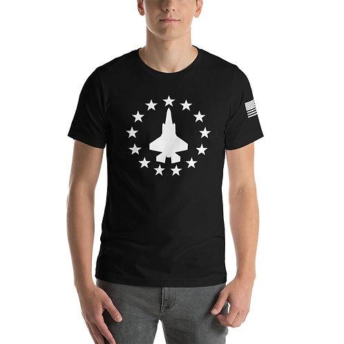 F-35 FREEDOM STARS WHITE PRINT Lightweight T-shirt