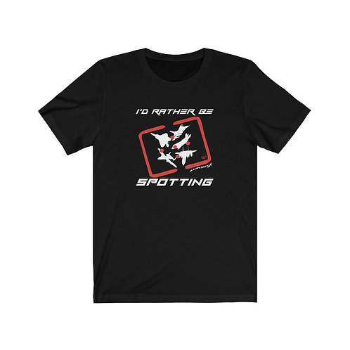 RAMPCHECK I'D RATHER BE SPOTTING FIGHTER & ATTACK Lightweight T-shirt
