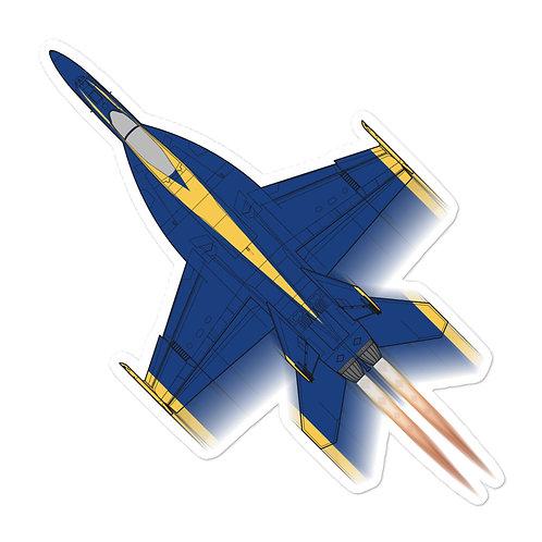 UNOFFICIAL USN BLUE ANGELS F/A-18E FULL SEND STICKER