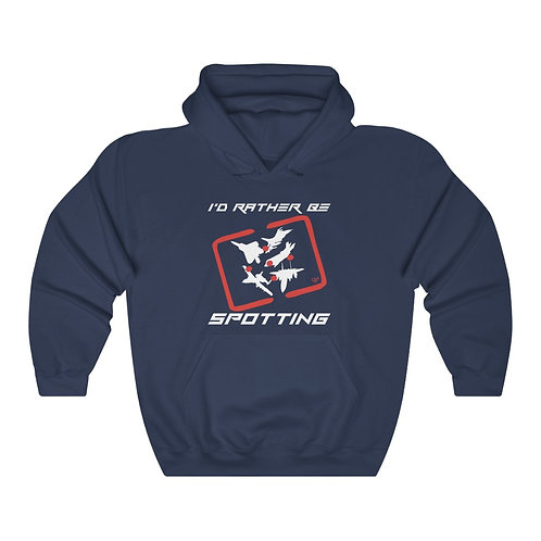 I'D RATHER BE SPOTTING FIGHTER & ATTACK Heavyweight Hoodie