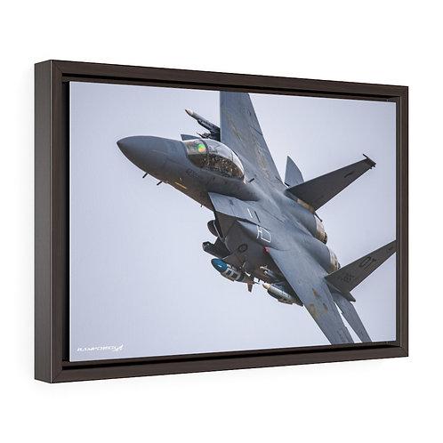 F-15E STRIKE EAGLE NELLIS AFB, NEVADA Framed Premium Gallery Wrap Canvas