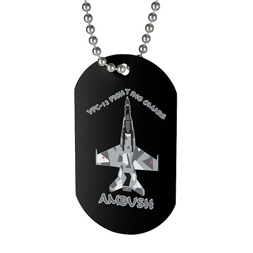 F/A-18A HORNET VFC-12 FIGHTING OMARS AMBUSH SPLINTER Dog Tag
