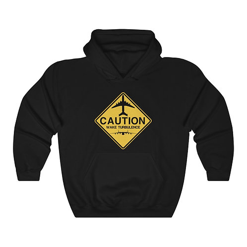 AN-225 CAUTION WAKE TURBULENCE SIGN Unisex Heavy Blend HOODIE