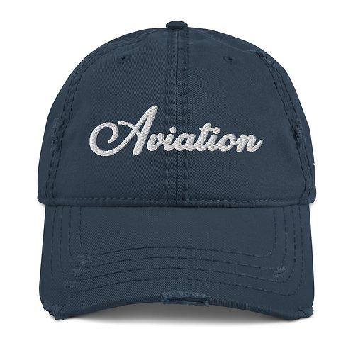 AVIATION Distressed Dad Hat