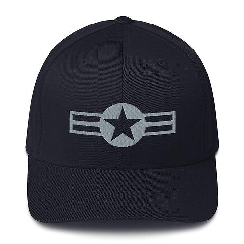 US MILITARY ROUNDEL FLEXFIT HAT